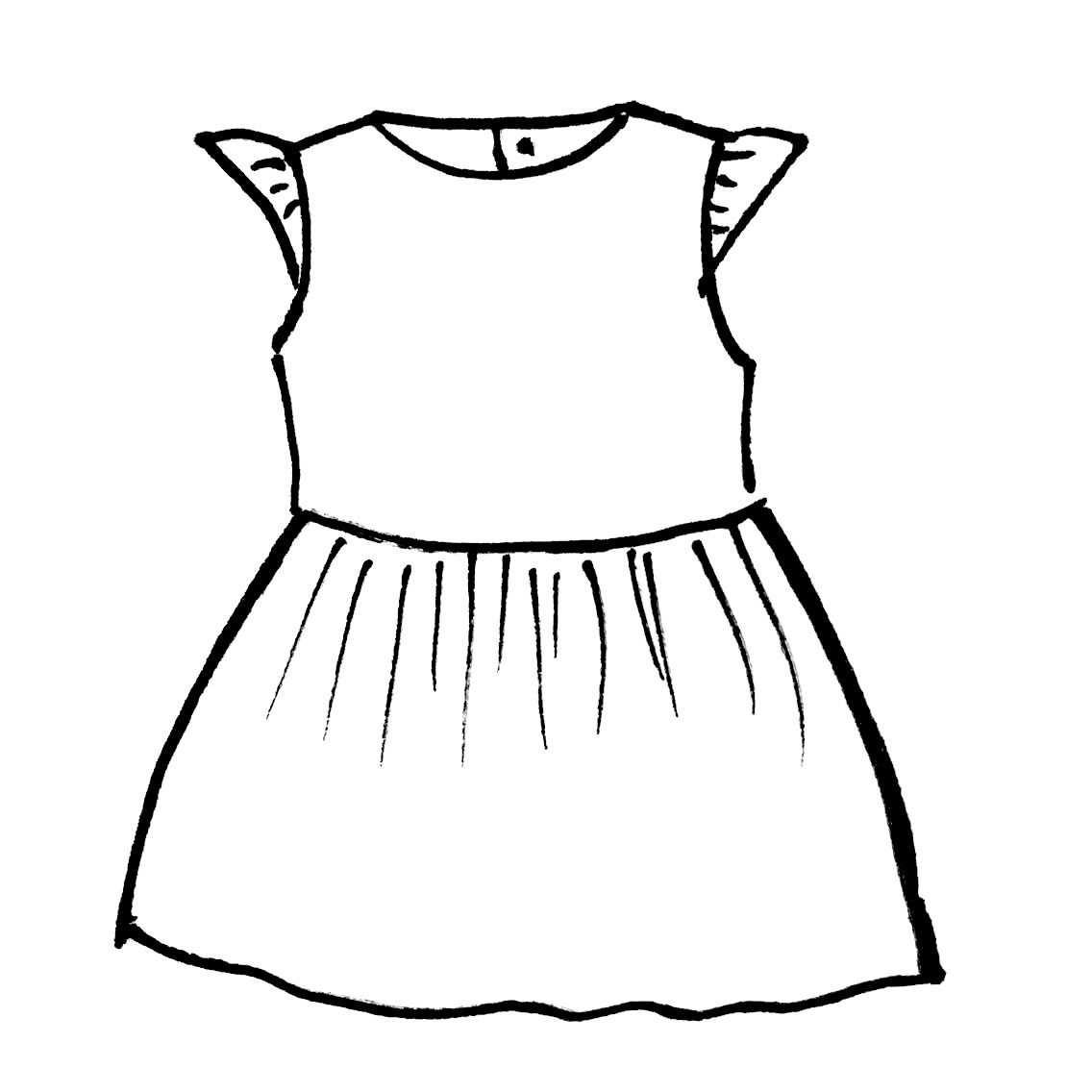 Grace Dress Meisjes Jurken Babykleding Patronen Kinderkleding