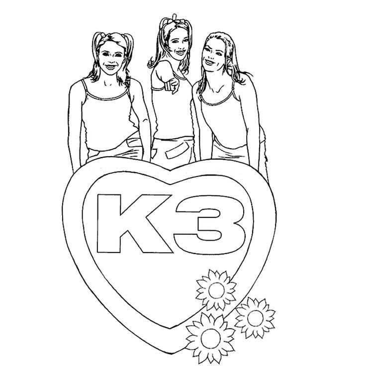 Liefs Van De Meiden Van K3 Kleurplaten Afbeeldingen En Tekenen