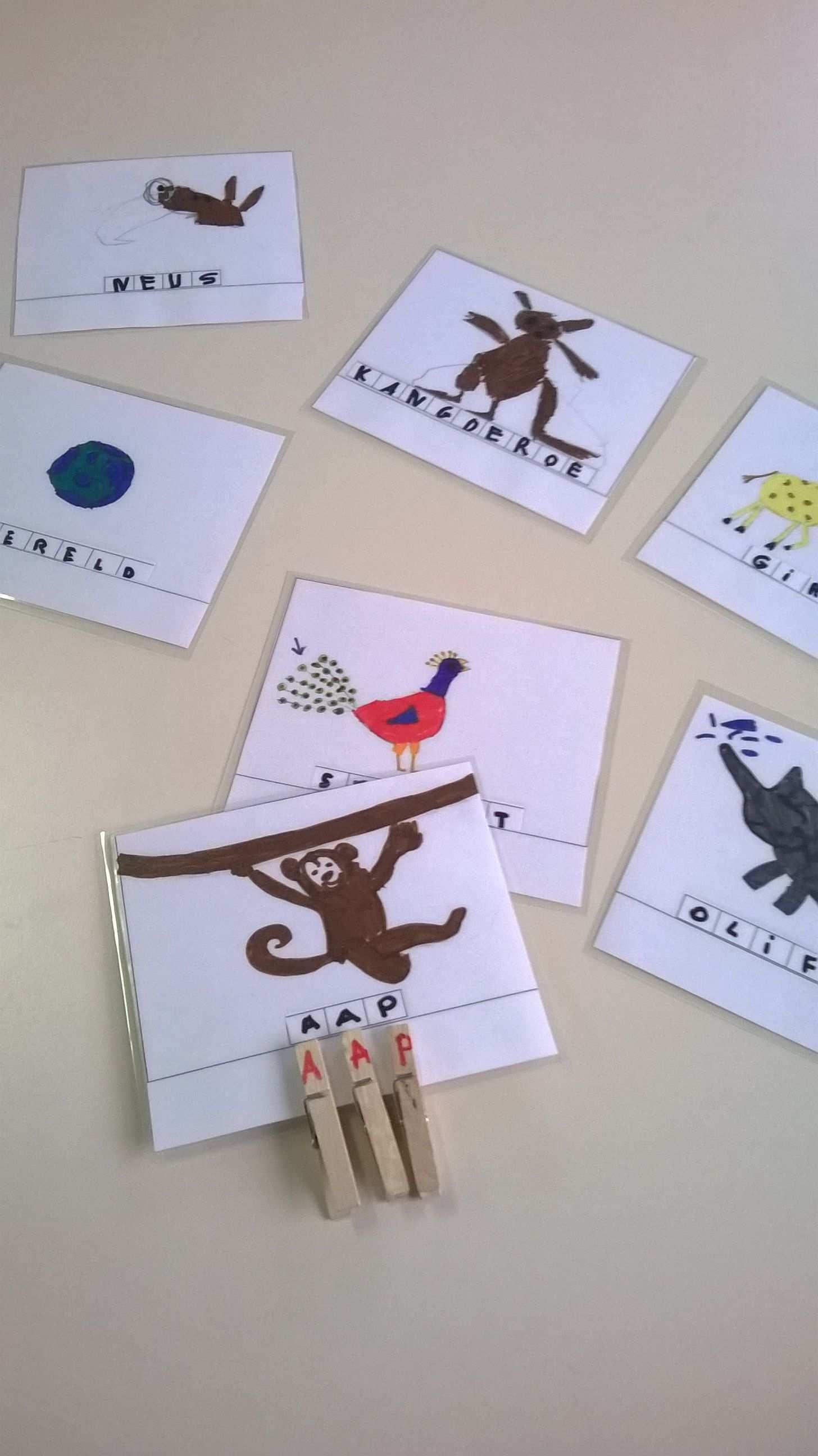 Woordkaarten En Letterspelden 7 Sprong Kemzeke L4 Voor K3 Spel