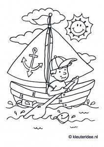 Zeilboot Kleurplaat Voor Kleuters Thema Zeeland Kleuteridee Nl