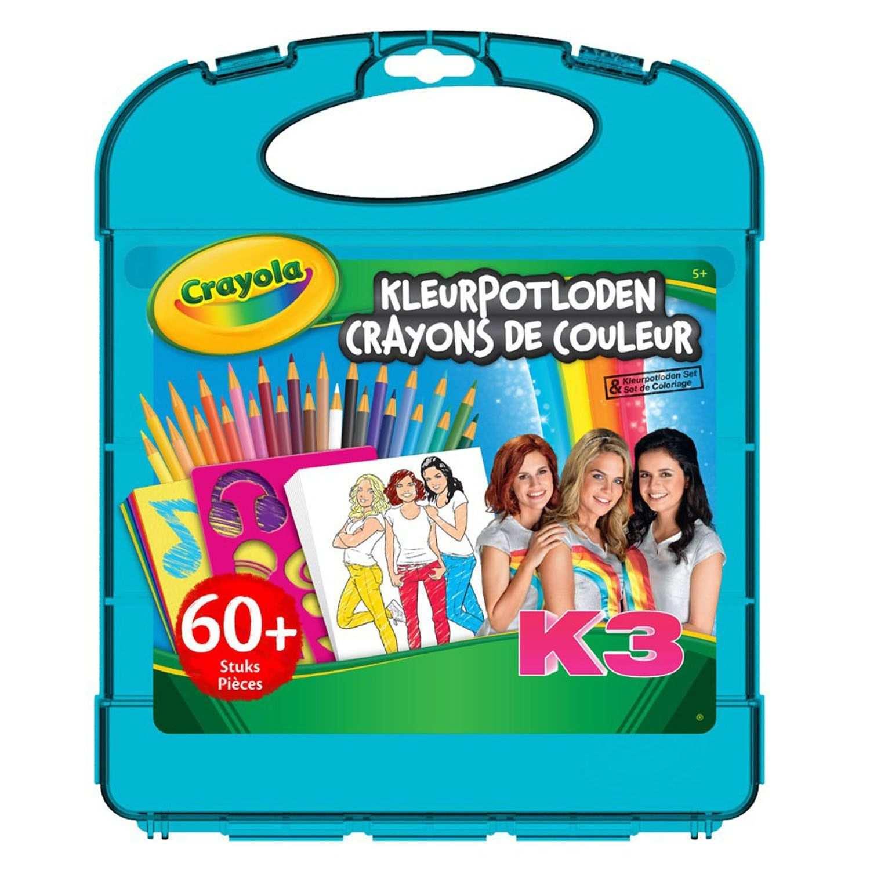 Crayola K3 Kleurpotloden Tekenkoffer Kleurpotloden Kleurplaten
