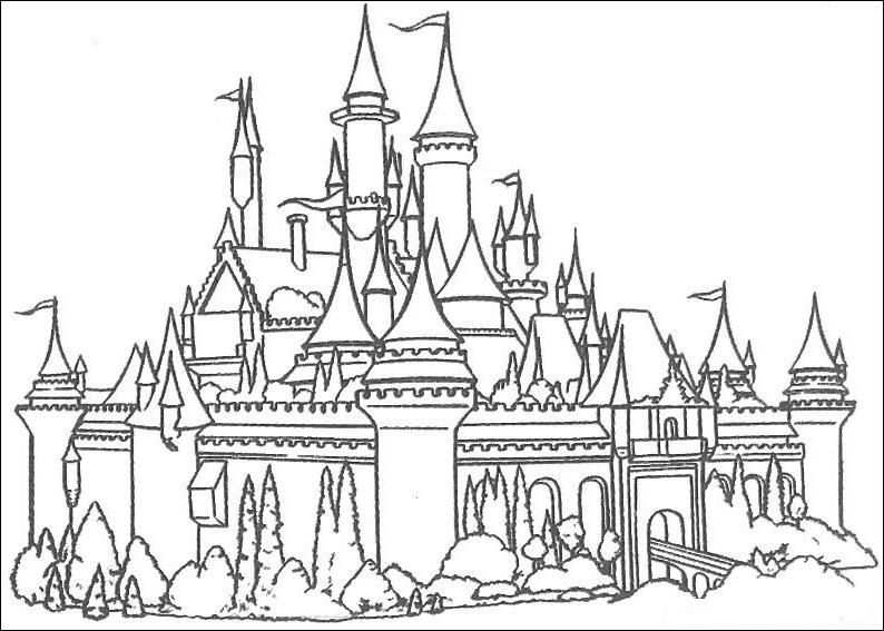 Kleurplaat Kasteel Jpg 794 567 Pixels Disney Kleurplaten