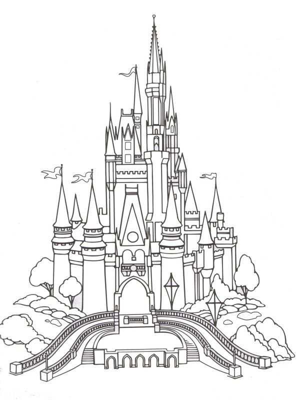 Castle Coloring Page Kleurplaten Prinses Kleurplaatjes Disney