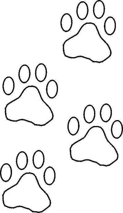 Sjabloon Afdruk Kattenpootje Voor Decoreren Honden Quilts