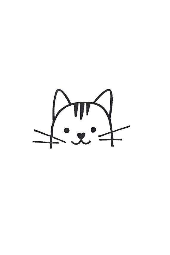 Cat Rubber Stamp Best Friend Gift Signature Stamp Bookplate