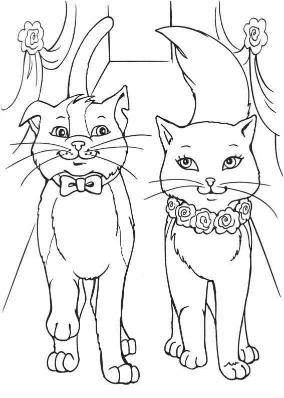 Barbie Princess And Cat Coloring Pages Met Afbeeldingen
