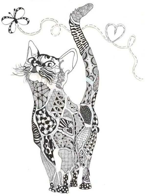 Baby Katten Kleurplaat Voor Volwassenen 8734982379482 Animal