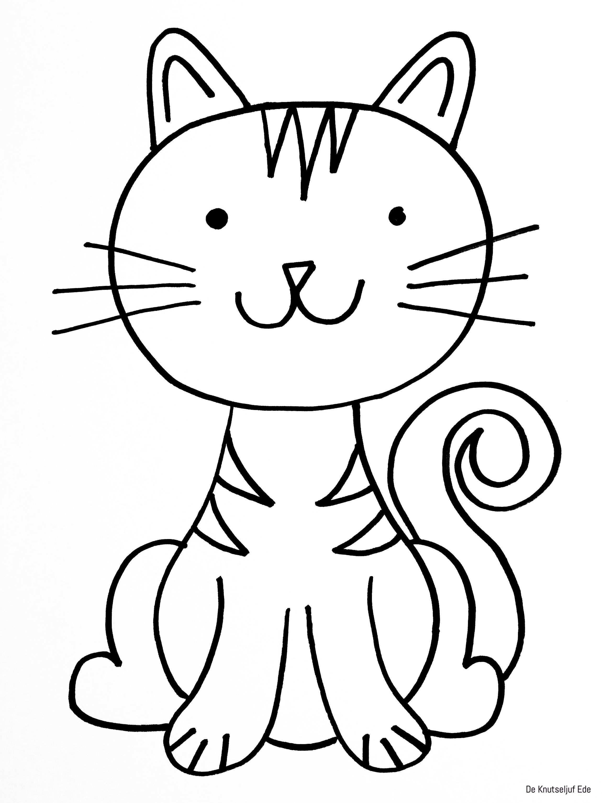 kleurplaat katjes