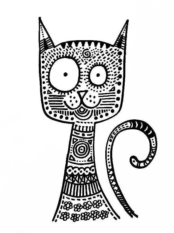 Kleurplaten Katten In 2020 Met Afbeeldingen Katten Tekening