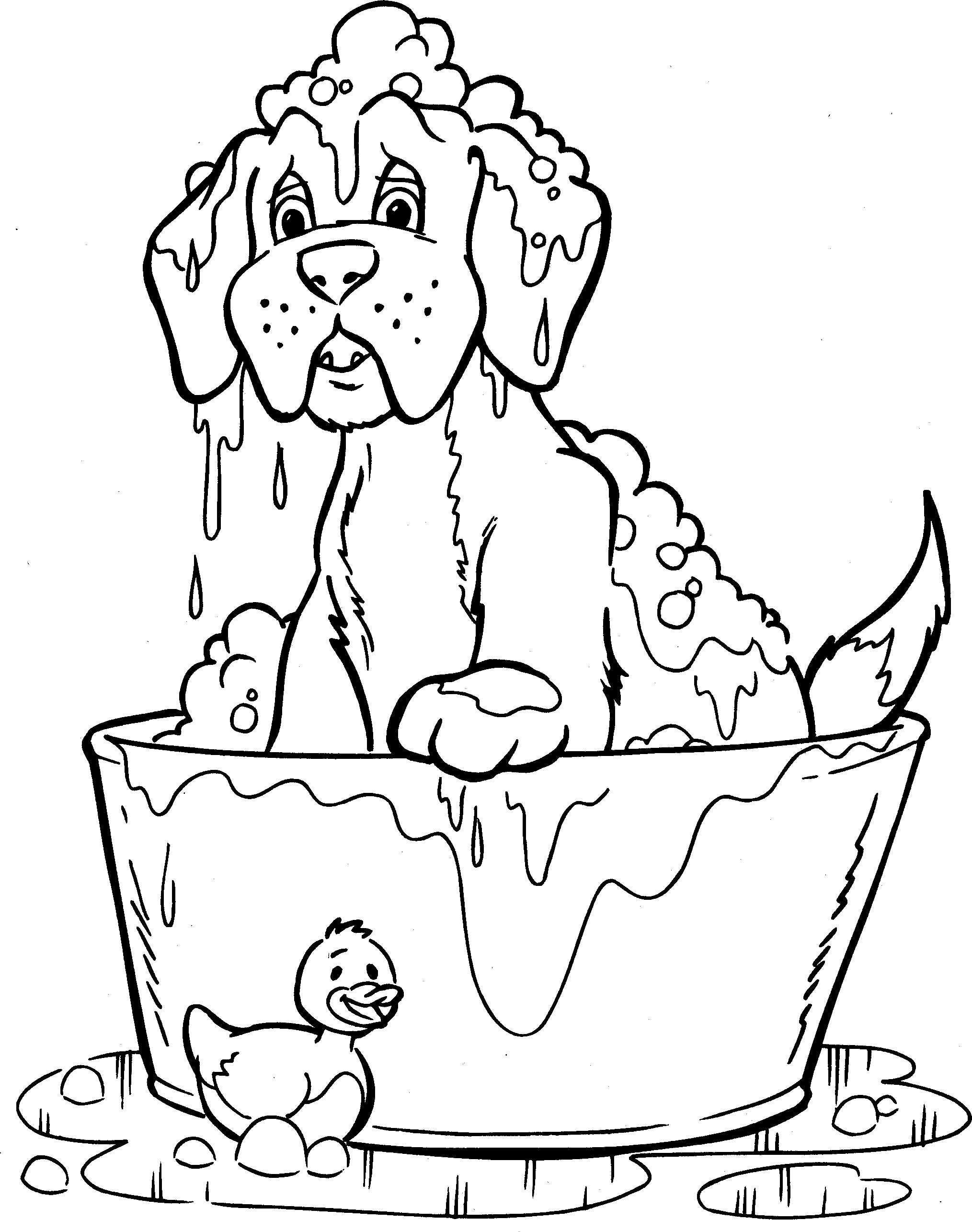 Honden Kleurplaat Kleurplaten Digi Stempels Honden