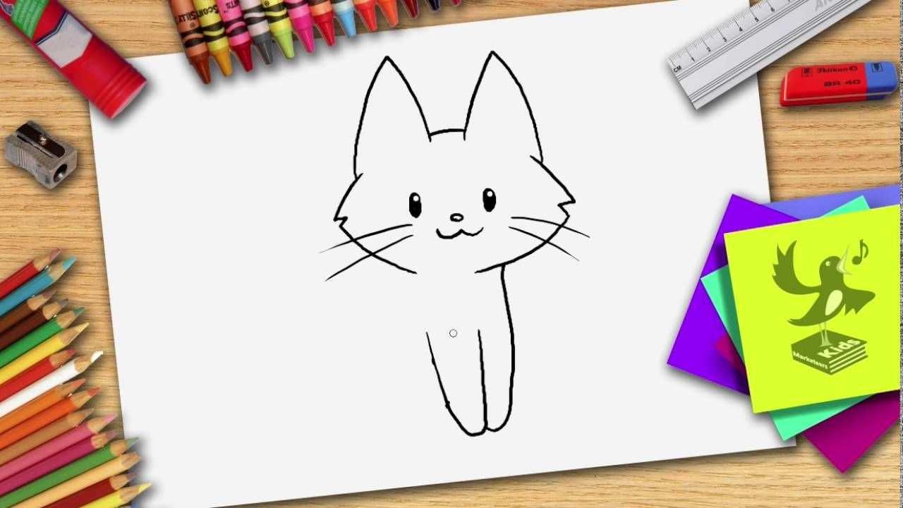 Hoe Teken Je Een Kat Zelf Een Poes Leren Tekenen Leer Tekenen