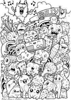 Gekke Diertjes Doodle Ideeen Kawaii Tekeningen