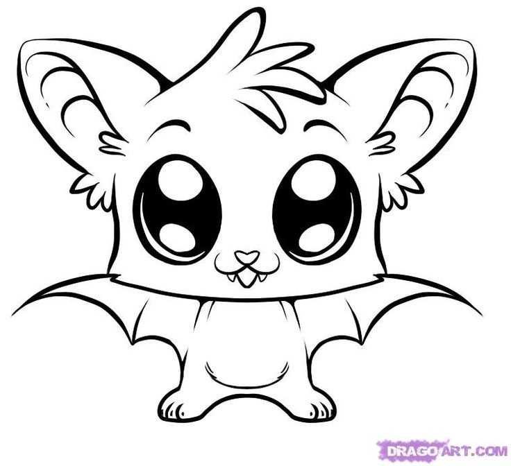 Image Result For Cute Animal Drawings Easy Kleurplaten Kawaii