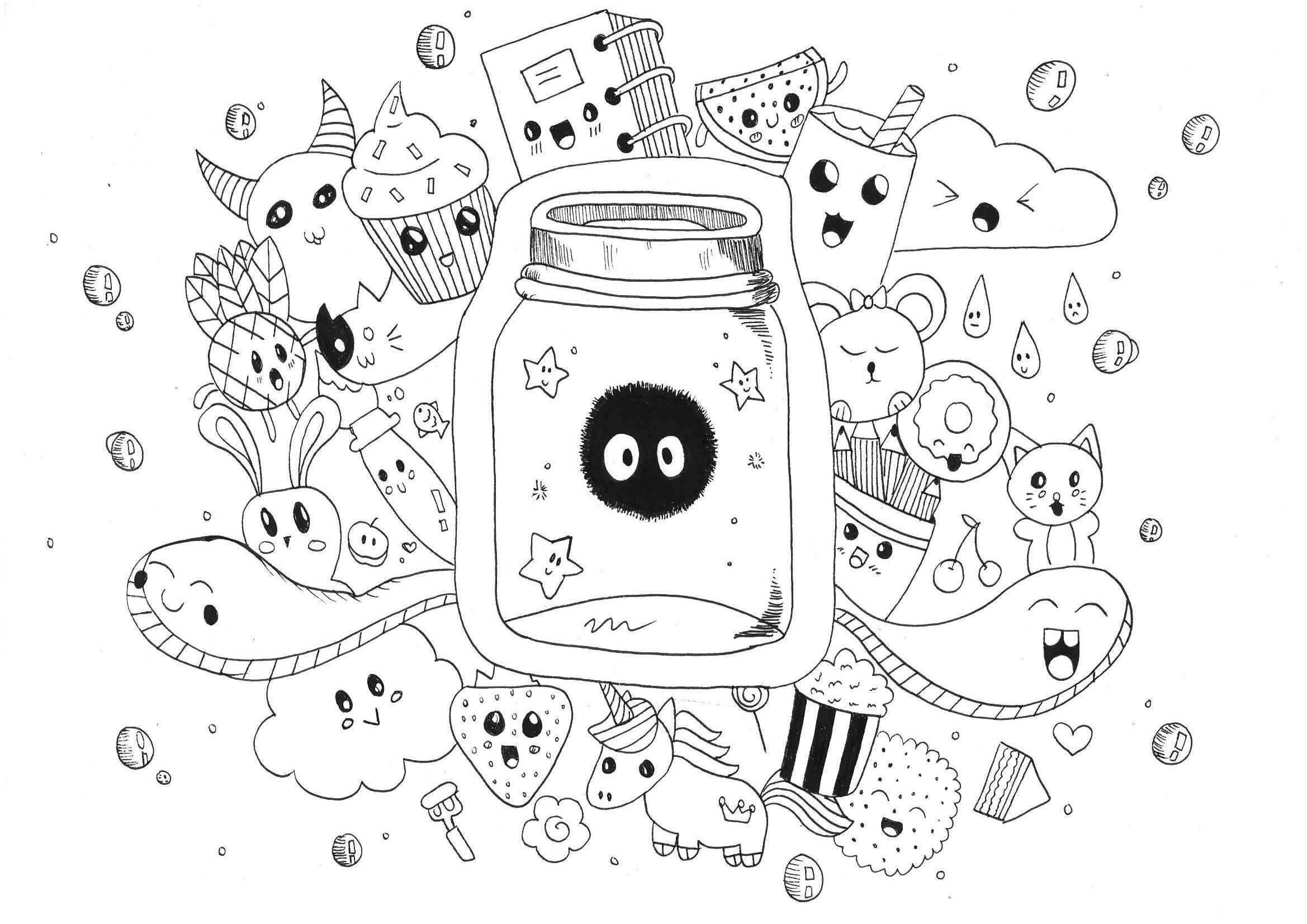 Kawaii Doodle Rachel Rachel Coloring Pages For Adults Just