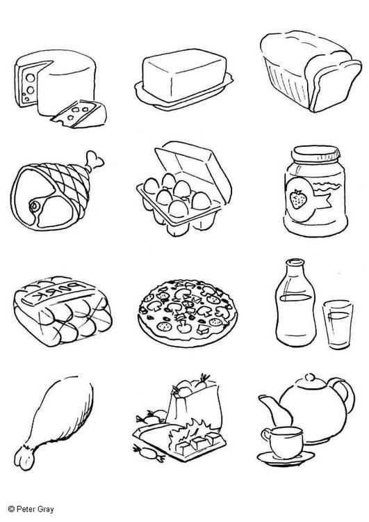 Coloring Page Food Img 6933 Met Afbeeldingen Kleurrijk