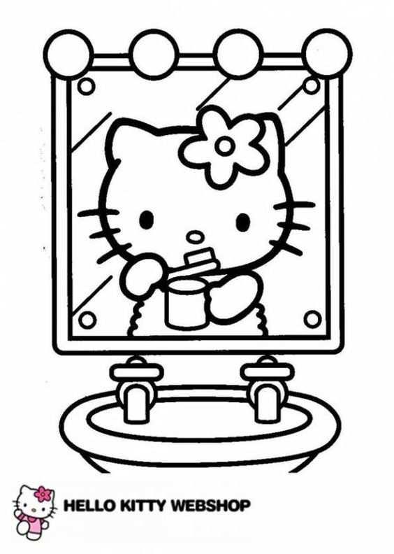 Klik Hier Om De Hello Kitty Kleurplaat Te Downloaden Eten
