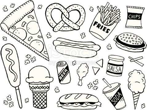 A Junk Food Fast Food Themed Doodle Page Tap The Link To See