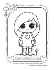 Coloring Page Sohie Addy Cute Coloring Pages Cute Drawings