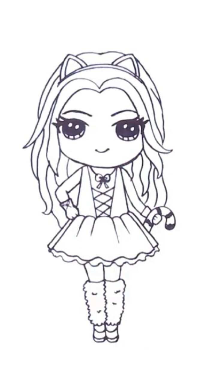 Pin By Riyapie On Drawings Kawaii Girl Drawings Girls Cartoon