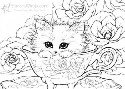 kleurplaat kitten