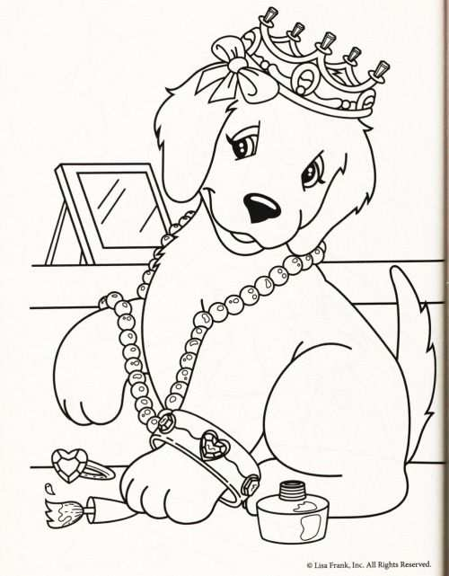 Kleurplaat Hond Kroon With Images Puppy Coloring Pages