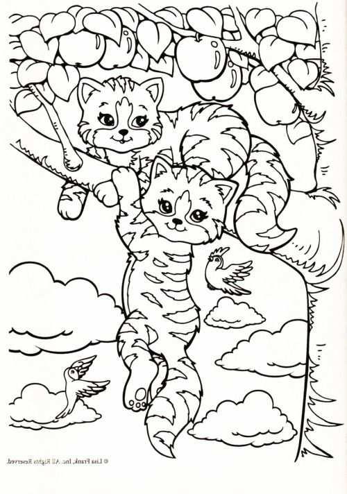 Kleurplaat Poezen In Appelboom Animal Coloring Pages Puppy