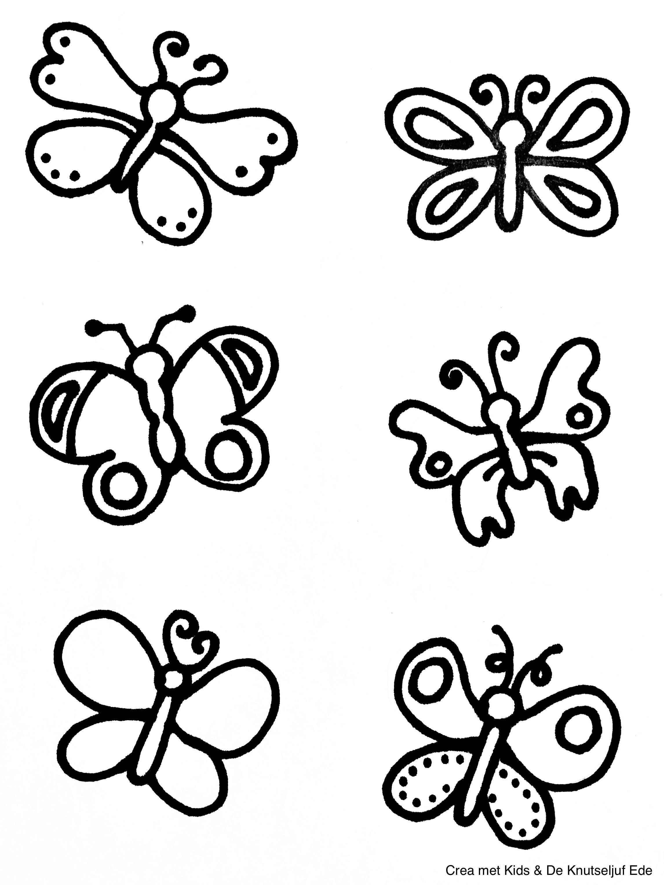Van Eitje Tot Vlinder Kleurplaten Kleurplaten Vlinders