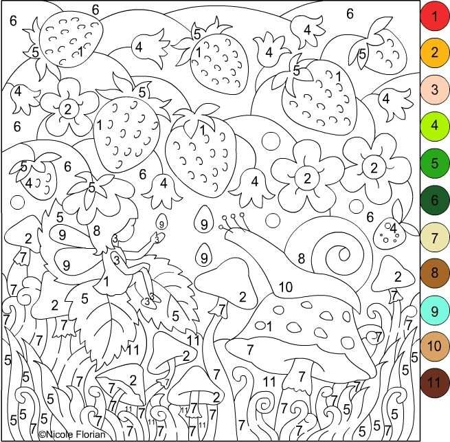 kleurplaat kleuren op nummer voor volwassenen