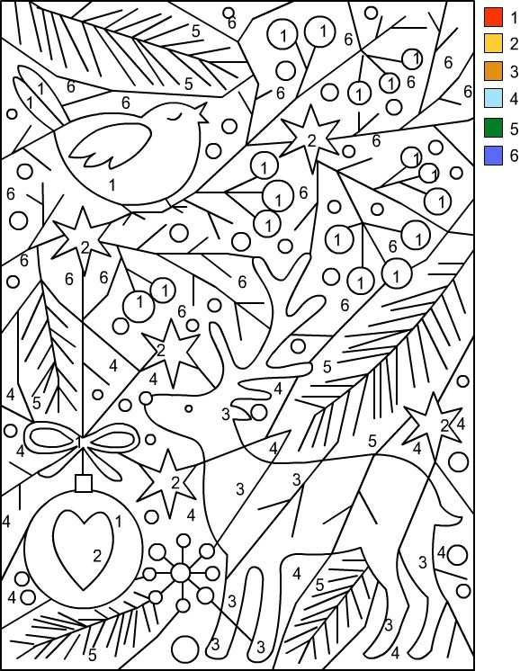 Nicole S Free Coloring Pages Christmas Color By Number Gratis