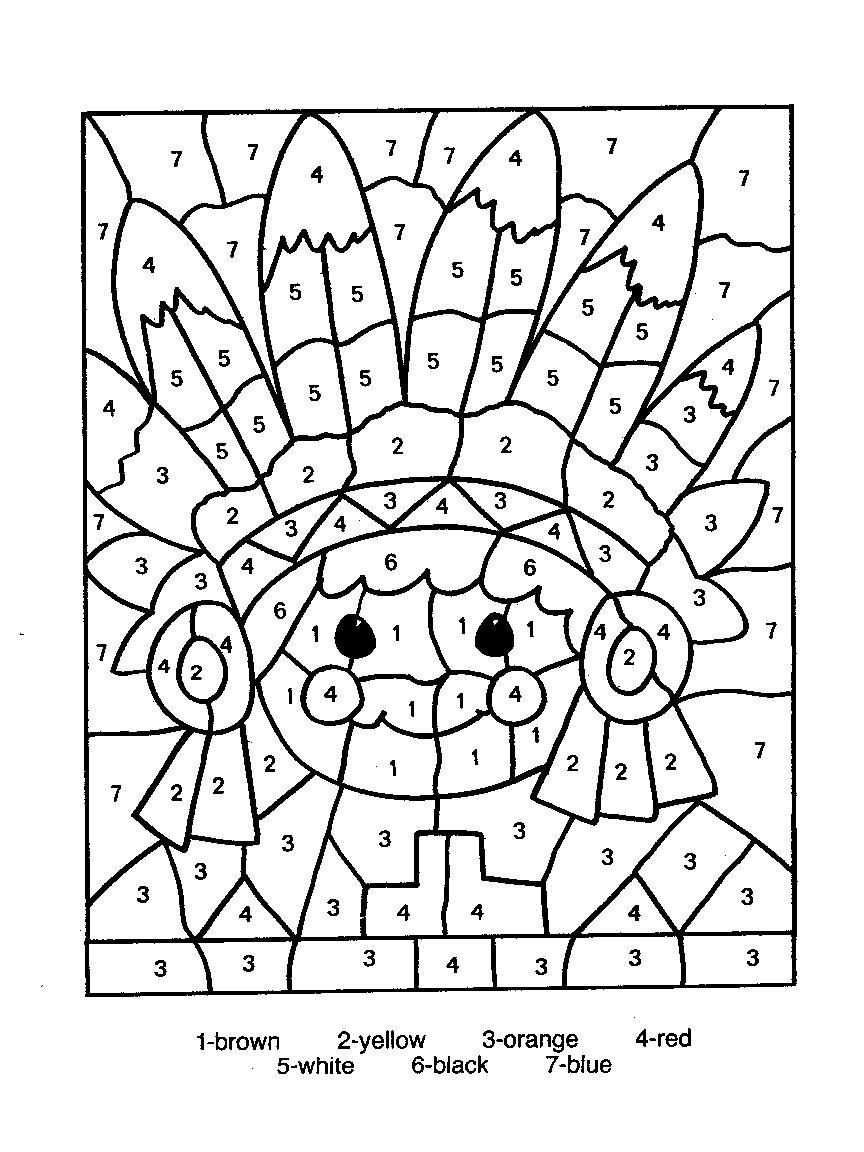 Color By Numbers Page Print Your Free Color By Numbers Page At