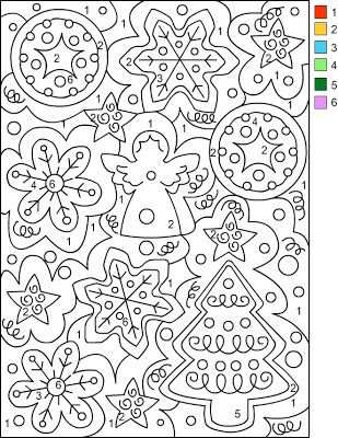 Nicole S Free Coloring Pages Christmas Color By Number Med