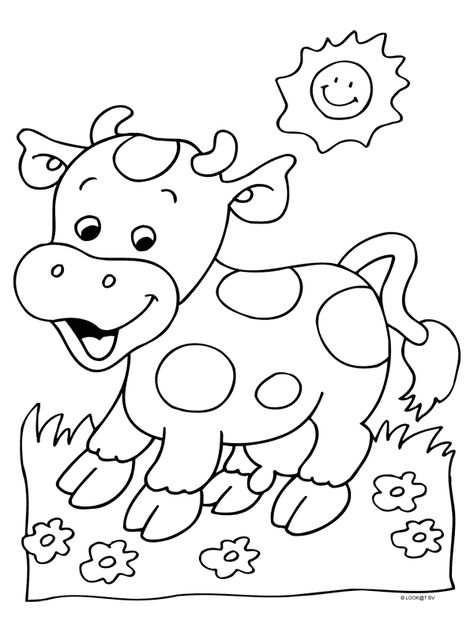 Afbeeldingsresultaat Voor Kleurplaat Koe Art Drawings For Kids