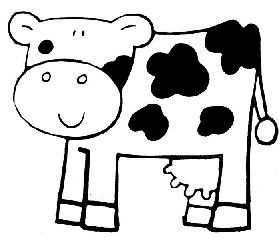 Kleurplaat Koe Kinderboerderij Dieren En Boerderijdieren