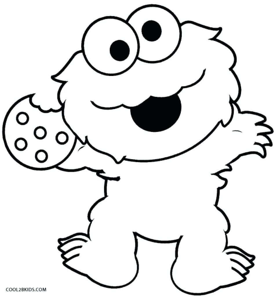 Cookie Monster Coloring Page Printable Cookie Monster Coloring
