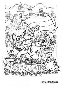 Kleurplaat Koningsdag Voor Kleuters 4 Kleuteridee Nl The Kings