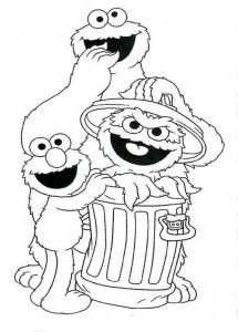 Free Sesame Street Coloring Printables With Images Sesame