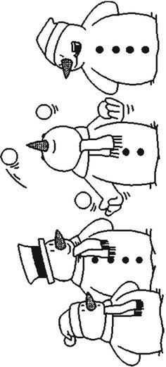 Kleurplaat Sneeuwpop Sneeuwpop Met Afbeeldingen Sneeuwpop