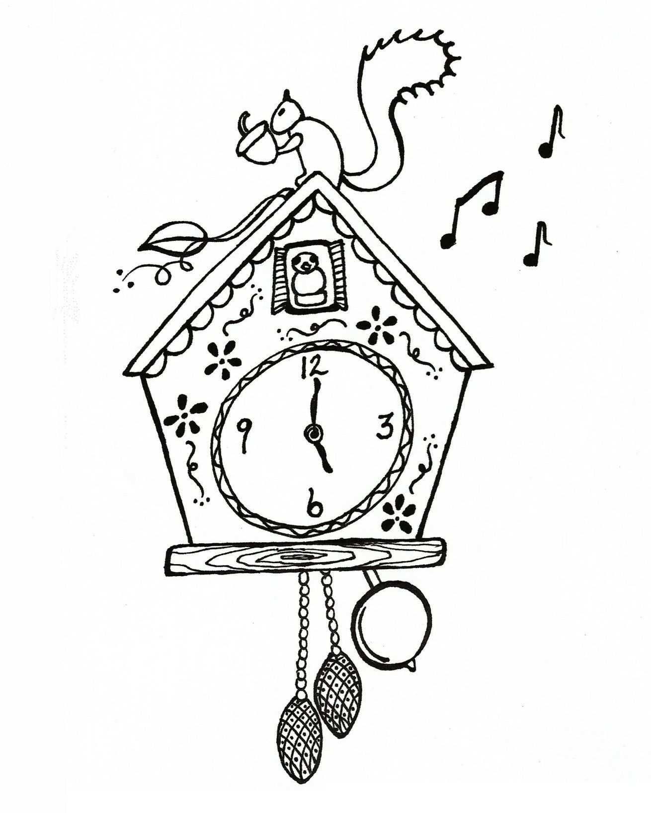 Cuckoo Clock Met Afbeeldingen Koekoeksklokken Klok Tekenen