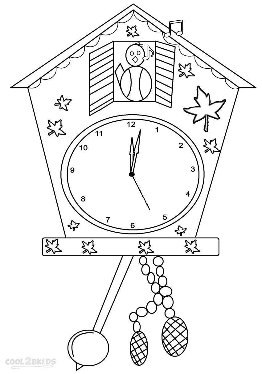 Clock Coloring Pages With Images Clock Craft Coloring Pages