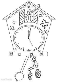 Clock Coloring Pages Clock Craft Coloring Pages For Kids