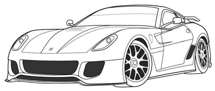 Ferrari 599xx Coloring Page Szinezo