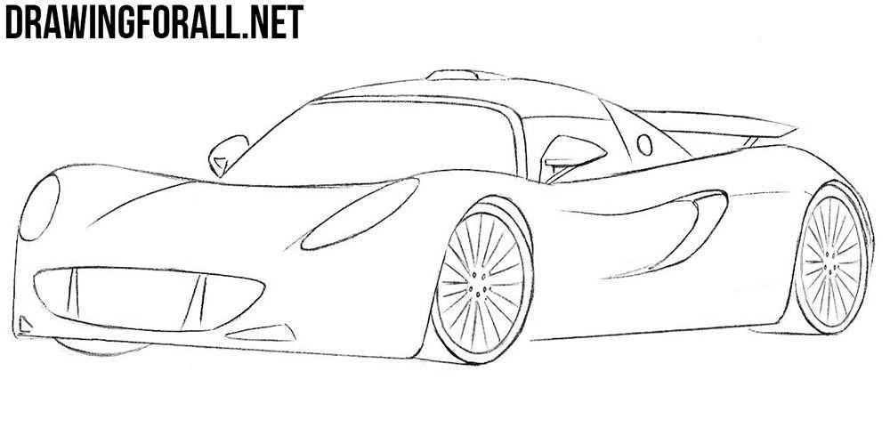 How To Draw A Hennessey Venom Gt Hennessey Venom Gt Car