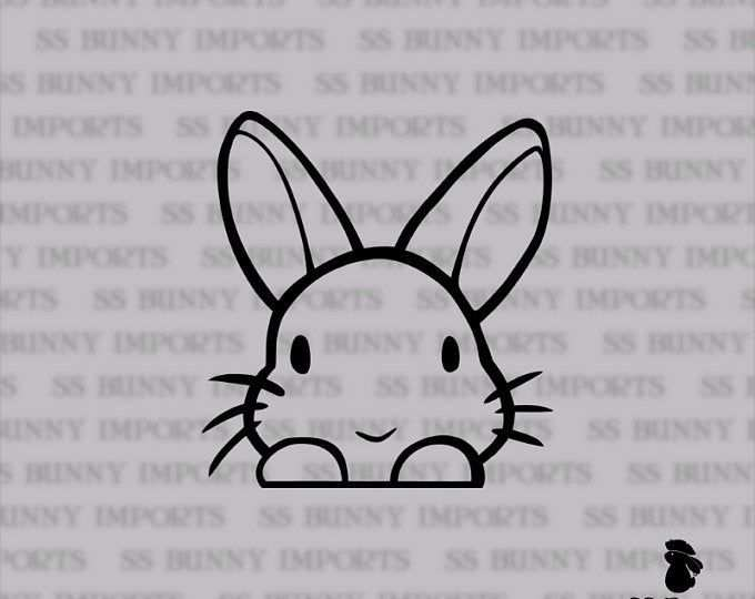 Lop Bunny Sticker Peeking Cute Rabbit Laptop Decal Car Decal