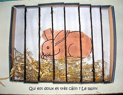 Konijn In Hok Knutselen Met Kleuters Rabbit Craft Preschool