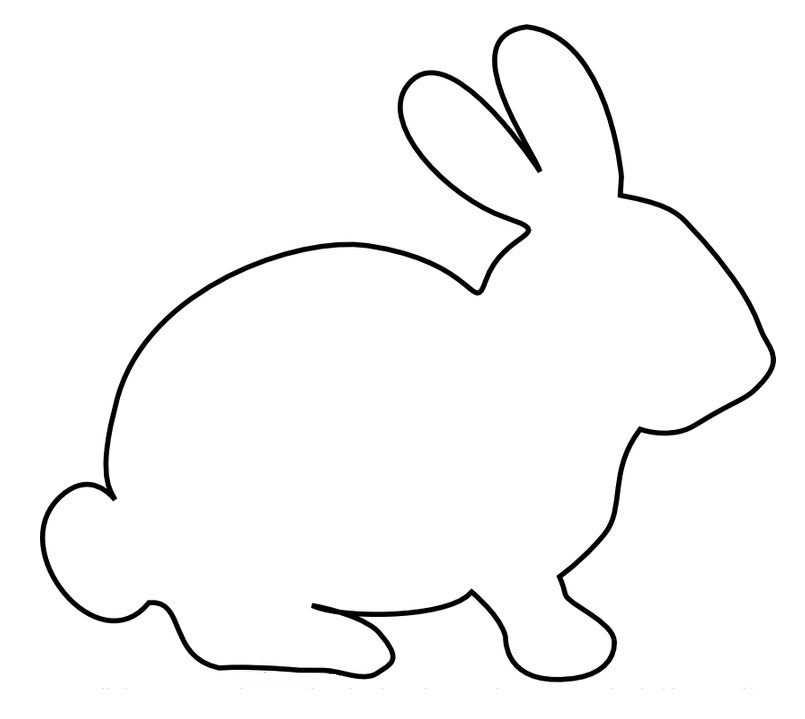 kleurplaat konijn tekening