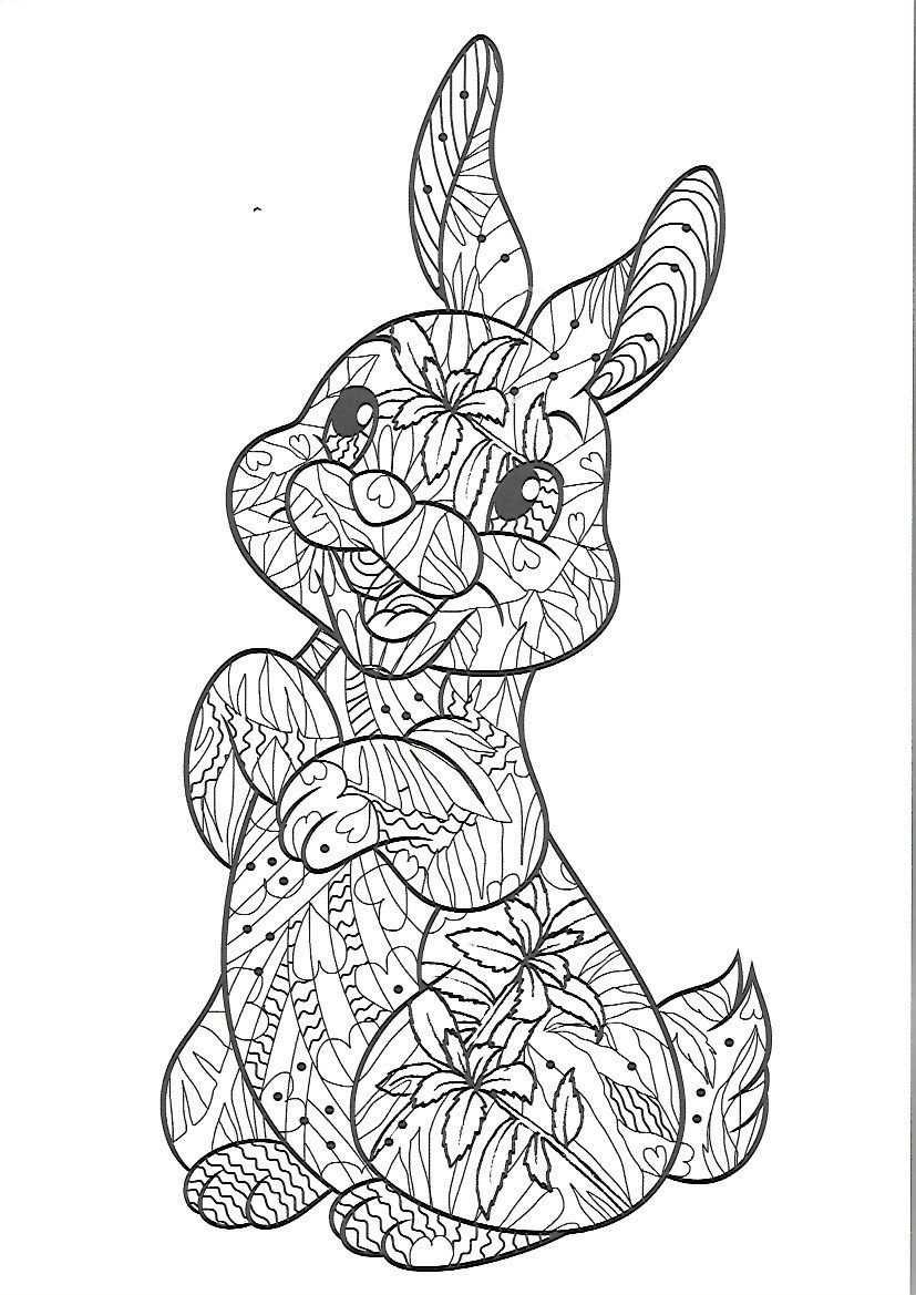 kleurplaat konijn volwassenen