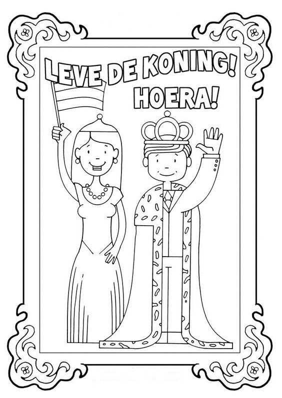 Pin Van Barbara Lenaers Op Bezoek Koning In 2020 Kleurplaten
