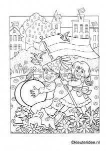 Kleurplaat Koningsdag Voor Kleuters 2 Kleuteridee Nl The Kings