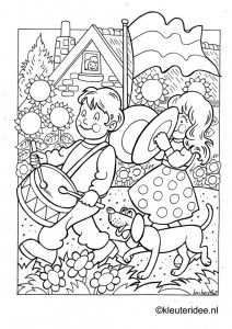 Kleurplaat Koningsdag Voor Kleuters 3 Kleuteridee Nl The Kigs