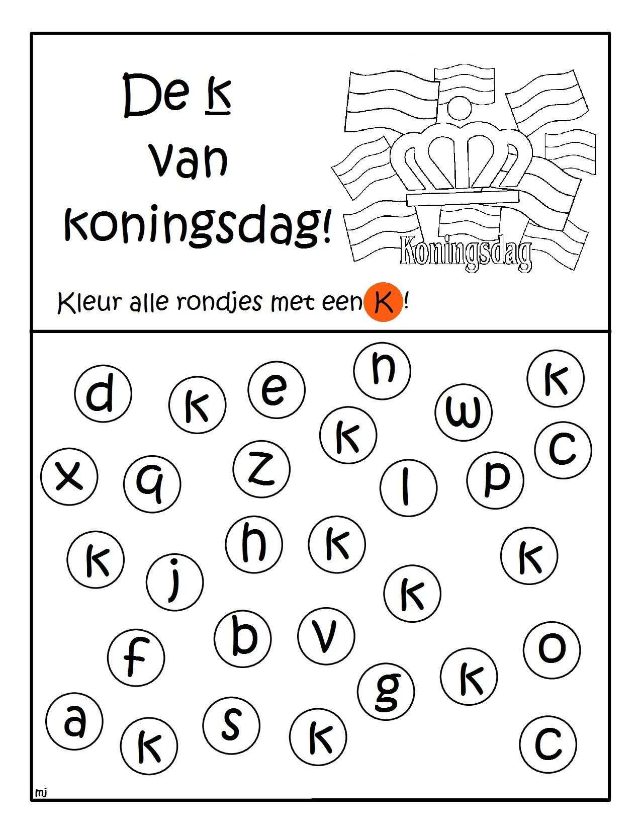 De K Van Koningsdag Brief Letterherkenning Geletterdheid
